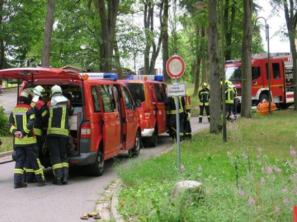 <p>Gegen 9.15 Uhr wurden die Feuerwehren aus Schneeberg und der Gefahrgut-Zug Erzgebirge dort&nbsp;in die Goethestraße gerufen.</p>