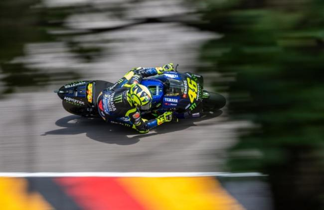<p>Freies Training MotoGP auf dem Sachsenring:&nbsp; Valentino Rossi, (Italien, Monster Energy Yamaha MotoGP Team).</p>
