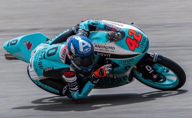 <p>Der Fahrer Marcos Ramirez (Spanien, Leopard Racing Team) fährt auf der Strecke. Ramirez belegt in der Qualifikation Platz 3.</p>