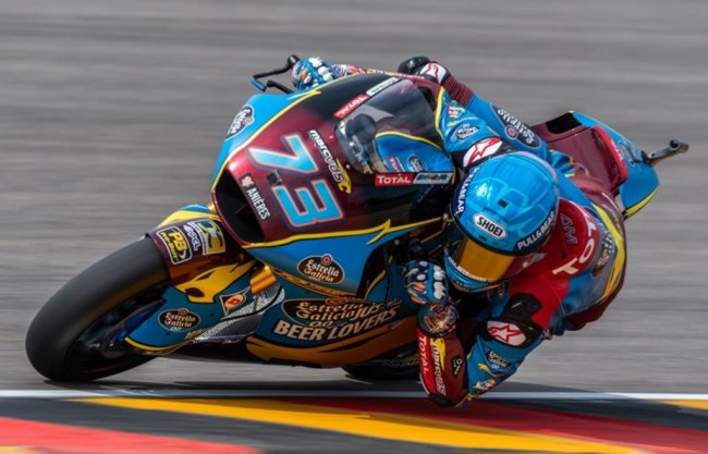 <p>Freies Training Moto2 auf dem Sachsenring: Alex Marquez (Spanien, EG 0,0 Marc VDS Team).</p>