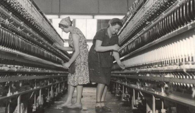 <p>Im Jahr 1962 blühte die Baumwollindustrie in Flöha. Hier war der Hauptsitz des VEB Vereinigte Baumwollspinnereien.</p>