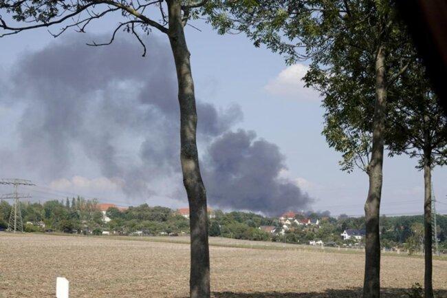 <p>Das mit Stroh gefüllte Gebäude brannte in voller Ausdehnung.</p>