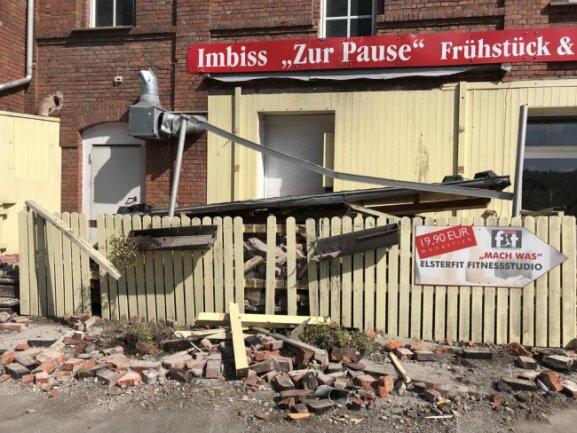 """<p><span class=""""img-info"""">Das Gelände der ehemaligen Wetzstein-Brauerei ist abgesperrt. </span></p>"""