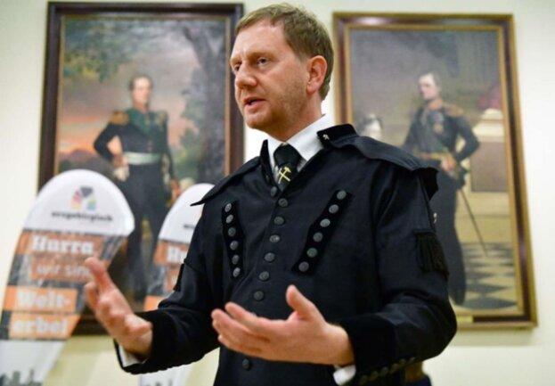 <p>Ministerpräsident Michael Kretschmer würdigte nochmals das Wirken der Initiatoren im Bemühen um den Welterbetitel.</p>