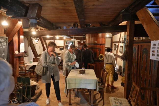 <p>Auch in der ersten Etage konnte man sich das Gebäude ansehen. Bis in die 80er Jahre war die Mühle noch in Betrieb.</p>