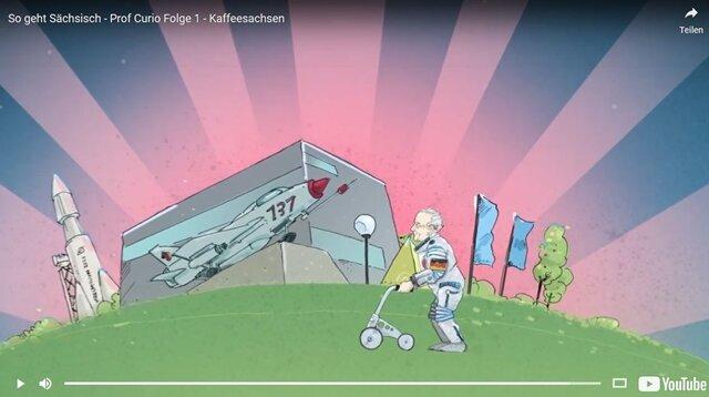 """<p>Für die landesweite Image-Kampagne """"So geht sächsisch"""" erstellte die Plauener Werbeagentur Manicx einen&nbsp;Trip durch Sachsens Kaffeegeschichte. In dem animierten Streifen von 2018 hat neben George Clooney und August dem Starken auch Sigmund Jähn einen Gastauftritt. Auf den Ruf: """"Siggi, der Kaffee is ferdsch!"""" läuft er&nbsp;im Raumanzug an der Deutschen Raumfahrtausstellung in Morgenröthe-Rautenkranz vorbei.</p>"""