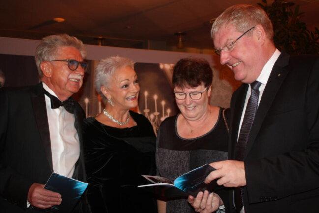 <p>Peter Hertel, Ines Landgraf, Andrea Schlegel und Frank Schlegel (von links)</p>