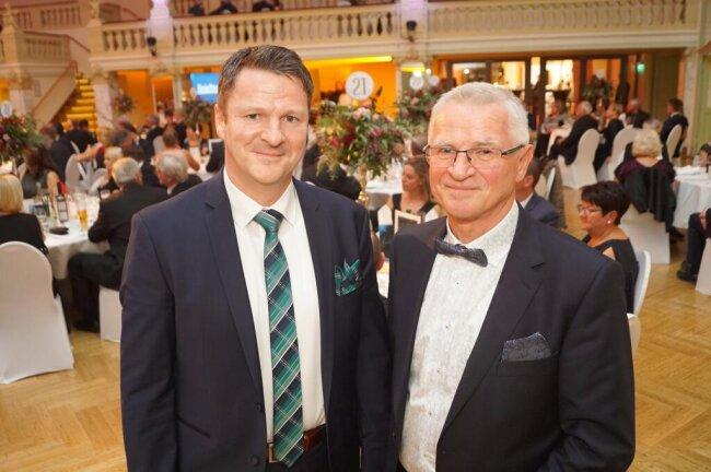 <p>Das Vater-Sohn-Duo Gert und Steffen Kehle (links) wurde mit dem Großen Preis des Mittelstandes ausgezeichnet.</p>