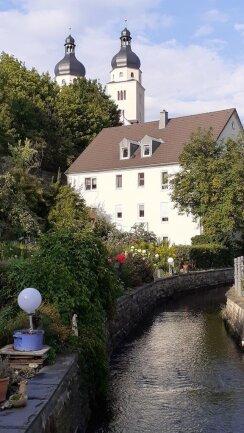 <p>Blick zur Johanniskirche</p>