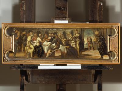 """<p>Bewaffnete rauben im November 2015 aus dem Museum Castelvecchio in Verona 17 Renaissance- und Barockgemälde im Wert von geschätzt etwa 15 Millionen Euro. Die Bilder etwa von Tintoretto und Peter Paul Rubens tauchen wieder auf. Die Täter müssen bis zu rund 10 Jahre in Haft.&nbsp;Unter den gestohlenen Werken ist auch&nbsp;Jacopo Tintorettos Ölgemälde """"Banchetto di Baltassar"""".</p>"""