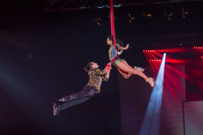 <p>Akrobatische Einlagen waren ebenso Teil des Abendprogramms.</p>