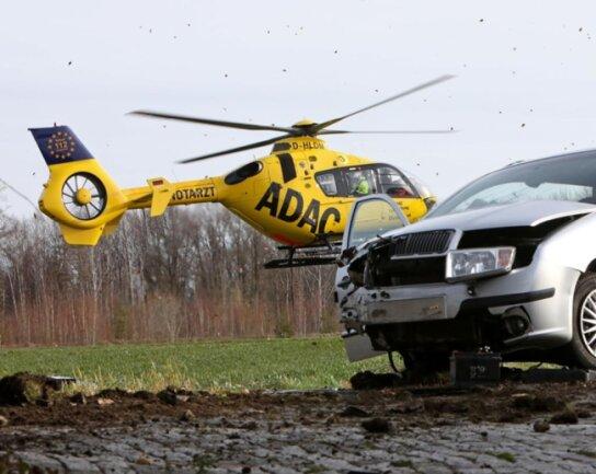 <p>Ein Rettungshubschrauber war im Einsatz.</p>