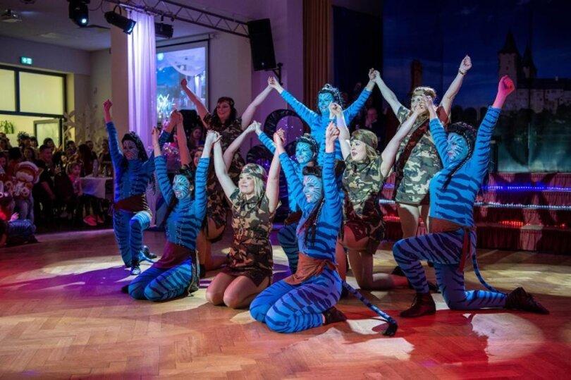 """<p>Die Rochlitzer Funkengarde überzeugte mit dem Tanz """"Avatar - wenn aus Gegnern Freunde werden"""".&nbsp;</p>"""