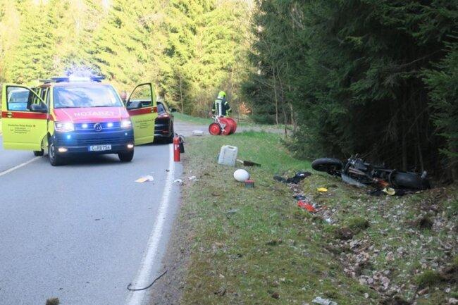 <p>Dabei wurde der Motorradfahrer schwer verletzt.</p>