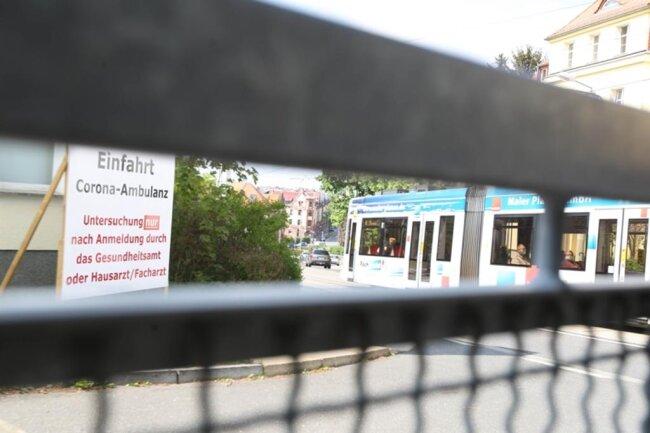 <p>Die Corona-Ambulanz am Plauener Helios Vogtland-Klinikum.&nbsp;</p>
