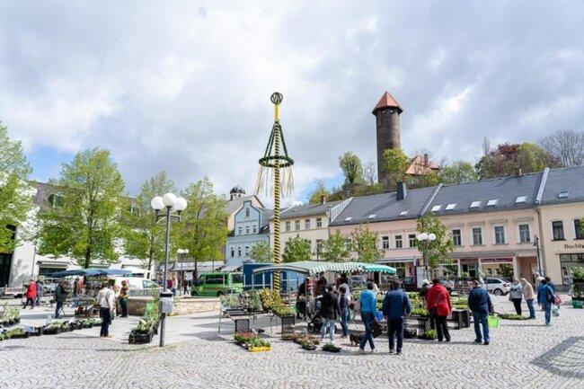 <p>Der Blumenmarkt in Auerbach war ein Lichtblick für Besucher.&nbsp;</p>