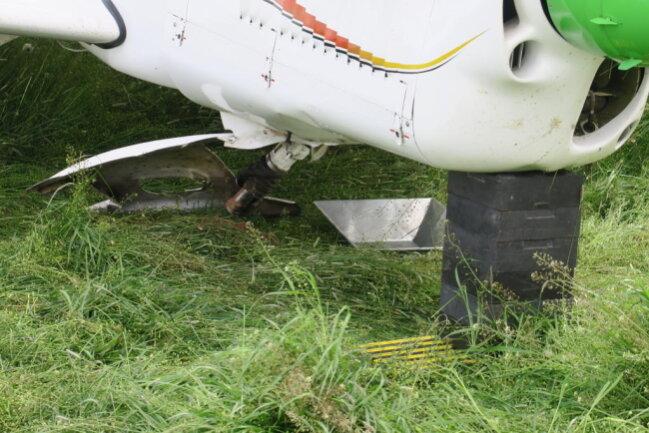 <p>Laut Pilot gab es in der Luft einen Motorausfall.</p>
