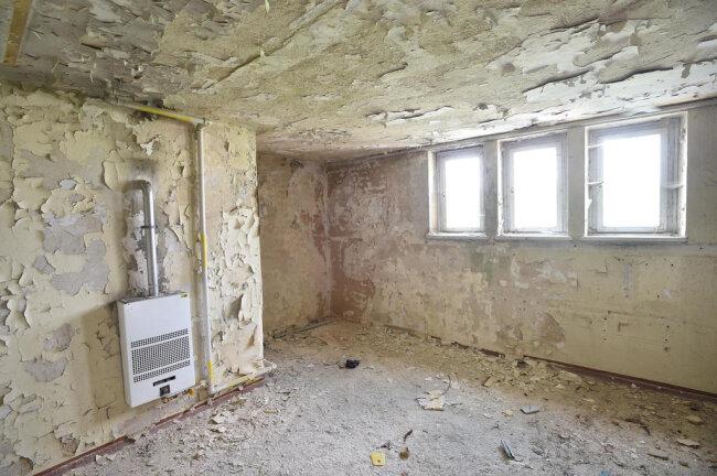 <p>Ein ehemaliger Technikraum im Turminneren.&nbsp;</p>