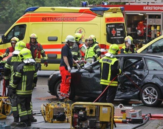 <p>Die Unfallstelle war mehrere Stunden gesperrt.</p>