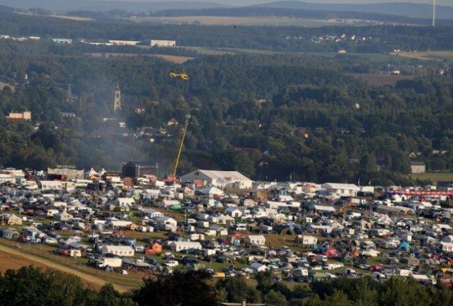 <p>Tausende Camper bevölkern jedes Jahr den Ankerberg und feiern oft bis zum nächsten Morgen.&nbsp;</p>