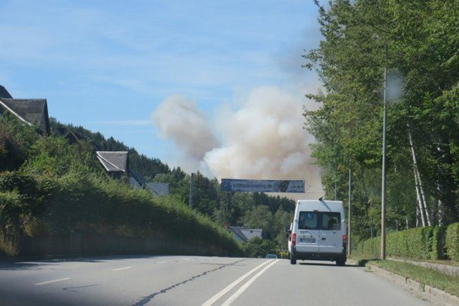 <p>Die Rauchsäule war laut Augenzeugen zwischenzeitlich sogar von Aue-Bad Schlema aus zu sehen.</p>