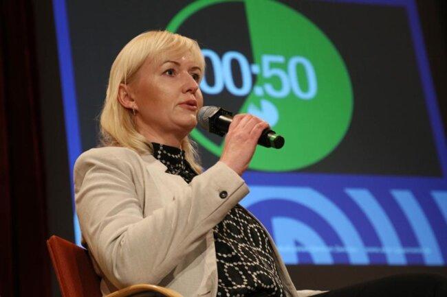 <p>Vier von fünf Runden gewinnt Kathrin Köhler (CDU) nach Ansicht des Publikums. Damit wird sie ihrer Favoritenrolle gerecht.</p>