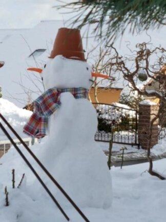 <p>Alles im Blick hat der Schneemann von Heidi Schuster.</p>