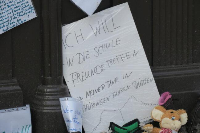<p>Auch in Schneeberg protestierten Eltern gegen Kita- und Schulschließungen.</p>