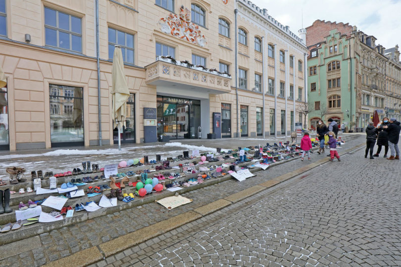<p>Protest in Zwickau</p>
