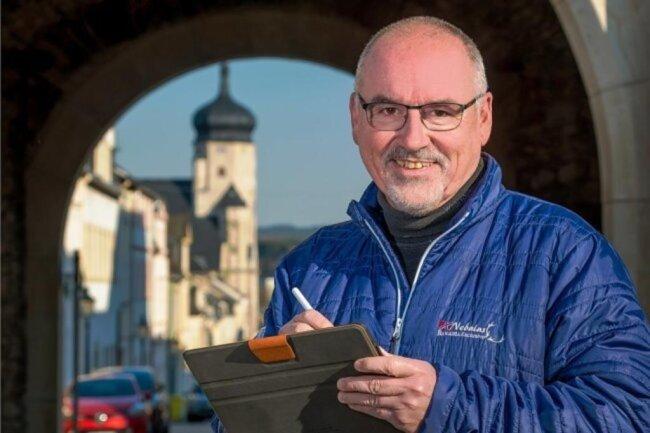 """<p>Thomas Wittig arbeitet seit 1990 bei der """"Freien Presse"""". Erste Station war die Lokalredaktion in seiner Heimatstadt Marienberg. Anschließend arbeitete er in Chemnitz sowie Olbernhau. In Annaberg-Buchholz übernahm er 2010 die Leitung der Lokalredaktion, ab 2014 auch als stellvertretender Regionalleiter. Seit März 2021 leitet er die Lokalredaktionen Marienberg und Zschopau.</p>"""