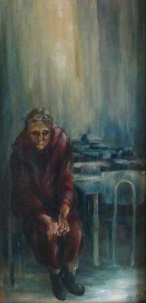 """<p>""""Alte im Wartesaal"""": Damit erlangte die Künstlerin 1981 ihr Diplom.</p>"""