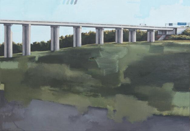 """<p>""""Talbrücke"""" - Öl auf Leinwand von Felix Lorenz (21) aus Kasendorf</p>"""