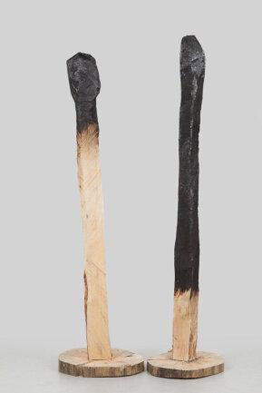 """<p>""""On the Brink of Extinction"""" - Motorsägenschnitzerei von Sina Lautner (21) aus Pottenstein</p>"""