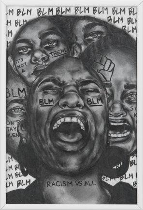 """<p>""""Outcry for Justice"""" - Zeichnung von Sua Jeoung (16) aus Chemnitz</p>"""