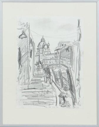 "<p>""Rio de la Croce, Venedig"" - Grafik mit Graphitmiene auf Papier von Sebastian Mittag (22) aus Augustusburg</p>"