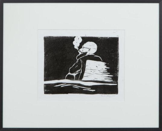"""<p>""""Durchatmen"""" - Linoldruck von Paula Jänig (17) aus Chemnitz</p>"""