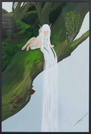 """<p>""""Nymphe"""" - Digital-Art von Lara Tauscher (17) aus Zwickau</p>"""