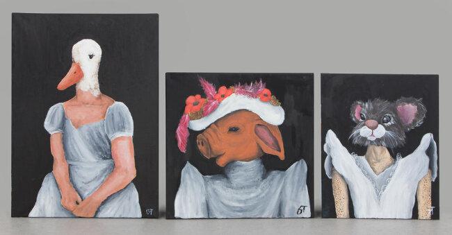 """<p>""""Wilde Tiere"""" - Acryl auf Leinwand von July Teubert (16) aus Hirschfeld</p>"""