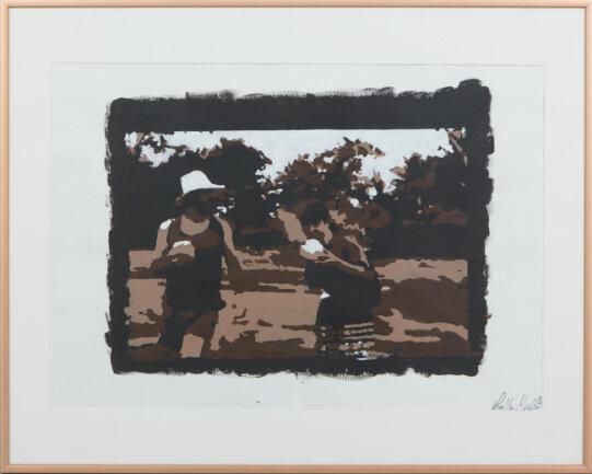 """<p>""""Esmeraldas"""" Schablonen-Kunst, Acryl auf Papier von Lorella Müller (22) aus Helmbrechts</p>"""