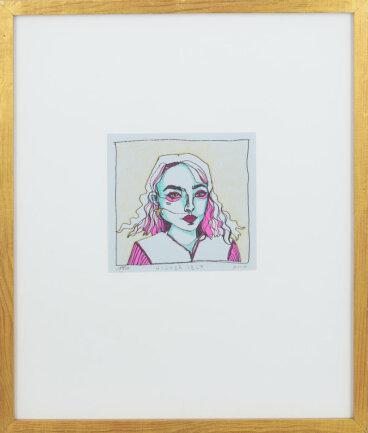 """<p>""""HIGHER SELF"""" - Filz und Acrylmarker auf Papier von Lara Siegel (19) aus Chemnitz</p>"""
