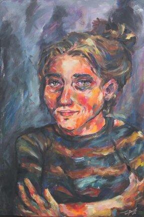 """<p>""""Allein"""" - Malerei auf Leinwand von Finia Schneider (16) aus Chemnitz</p>"""