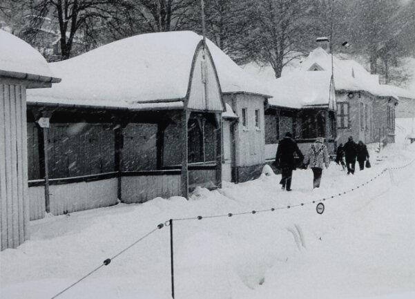 <p>Im Jahr 1981 wurde im Freibad ein Weihnachtsmarkt ausgerichtet.</p>