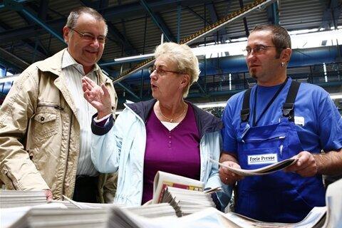 7500 Besucher nutzten am Sonntag den Tag der offenen Tür, um das technische Herzstück der Heimatzeitung kennenzulernen.