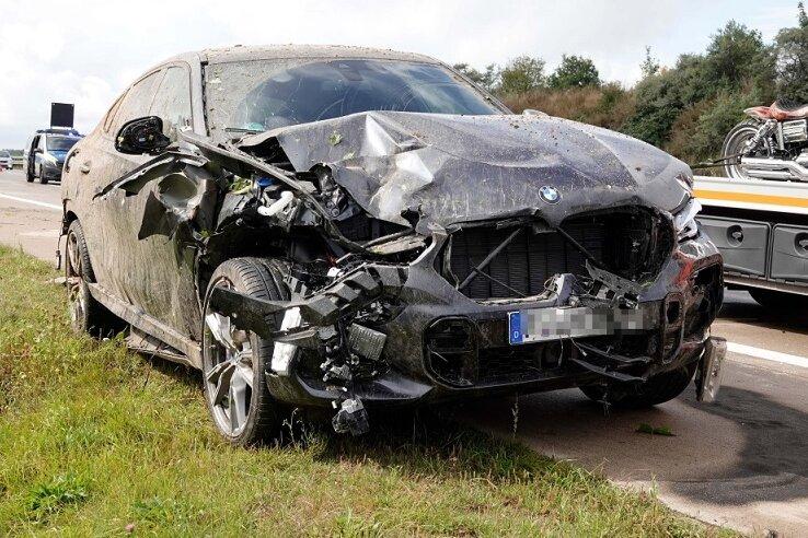 Vier Verletzte bei Unfall auf A 4 bei Hainichen