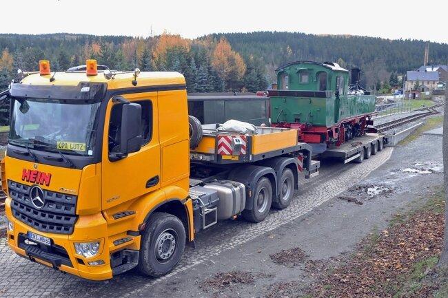 Von der Marienberger Werkstatt aus ging es in Richtung Fichtelberg.