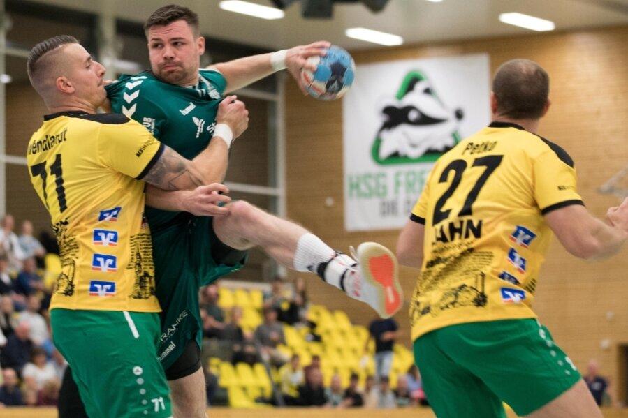 Mit Energie und Willen: Nico Werner war am Samstag von der Bad Blankenburger Abwehr kaum zu stoppen und am Ende mit 12 Toren der überragende Werfer der Partie.