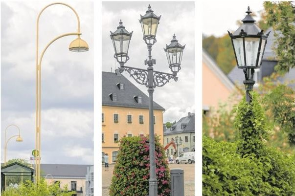 Was am Straßenrand in Annaberg-Buchholz leuchtet