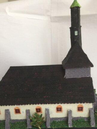 Das Modell zeigt die ehemalige Jakobikirche, die 1890 abgerissen wurde.