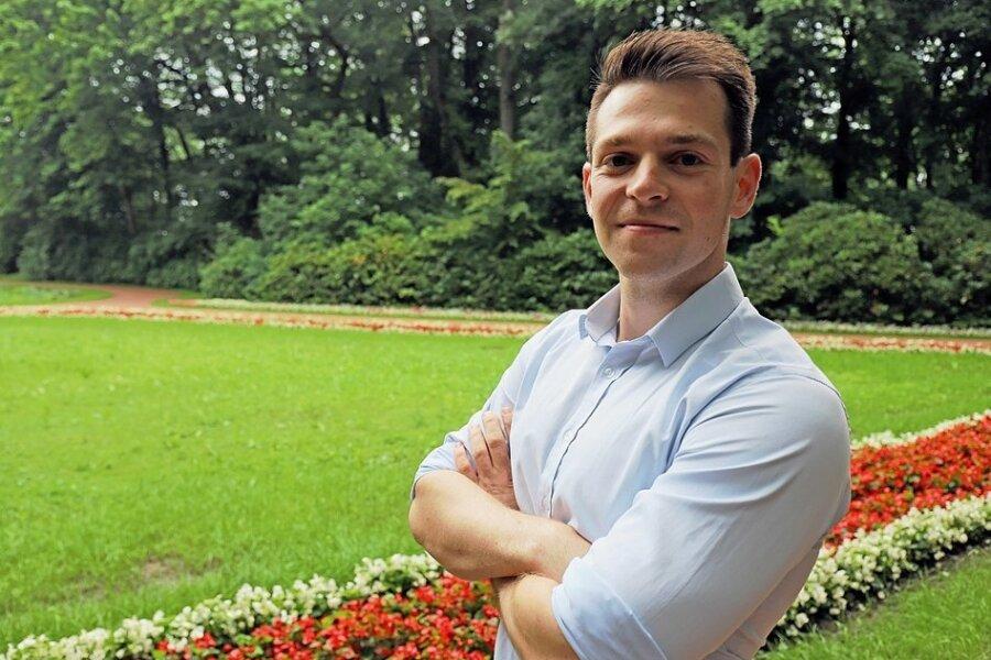 Der Park am Schwanenteich in Mittweida zählt zu den Lieblingsorten von Philipp Hartewig. Hier, nahe am Gymnasium, begann auch seine politische Laufbahn bei den Jungliberalen.