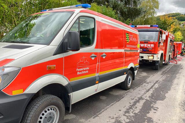 Buttersäure läuft aus - Gefahrguteinsatz in Ehrenfriedersdorf